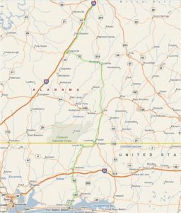 From Montgomery, Alabama Map