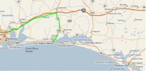 Map Directions From Pensacola