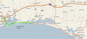 Map Directions From Pensacola Using State Hwy 98